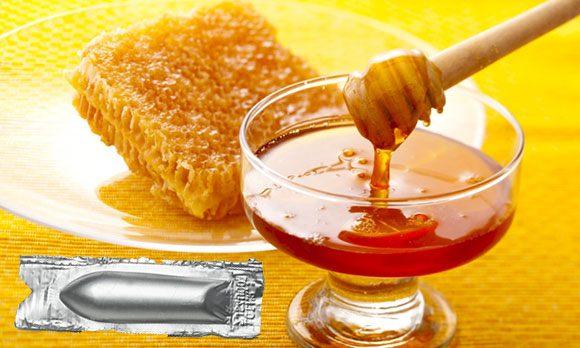 Лекарственная свеча с медом и прополисом