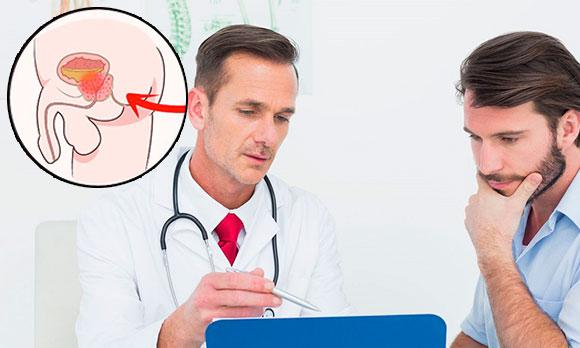 Заболевания простаты, мужчина на консультации у врача