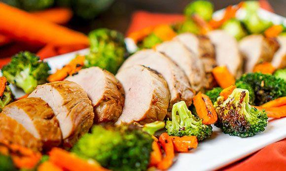 Запеченные овощи с мясом